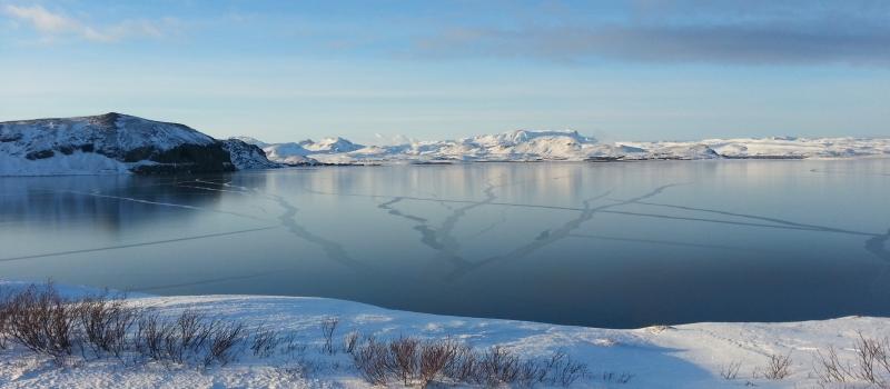 Frozen Þingvallavatn